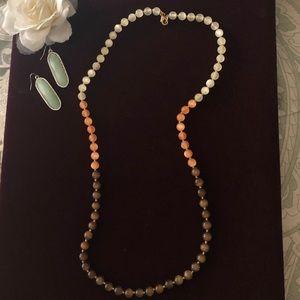 Banana Republic Cats Eye beaded strand necklace
